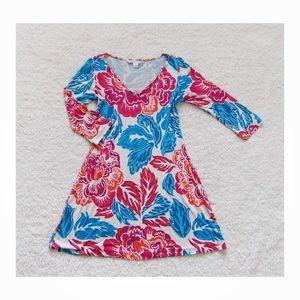 Diane Von fursteberg Floral v-Neck Shirt Dress 2